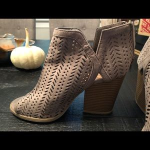 Boutique style open toed booties